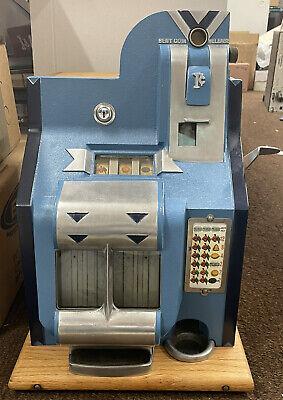 1936 Mills 1 Cent Slot Machine Chevron 1c Restored And Working Perfectly