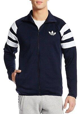 Mens New Adidas Originals Zip Track Top Tracksuit Jacket - Navy - Retro Vintage