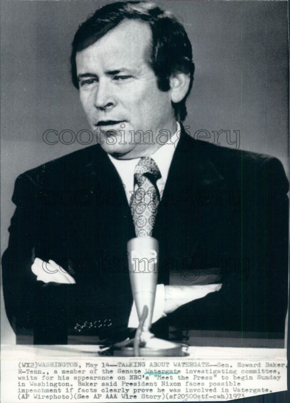 1973 US Senator Howard Baker of Tennessee Press Photo