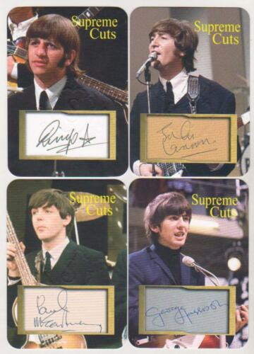 The Beatles Supreme Cuts Embossed Die Cut Facsimile Signature 4 Card Sample Set