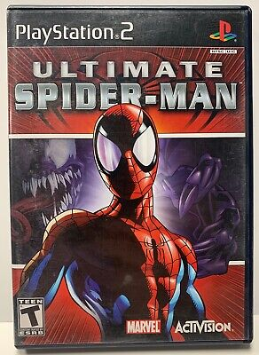 Ultimate Spider-Man Sony Playstation 2 PS2 CIB Complete Black Label Spiderman