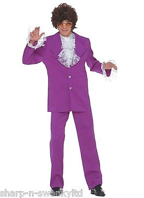 Mens 1960s 60s Austin Powers Stag Do Film Halloween Fancy Dress Costume Outfit - Austin Powers Halloween