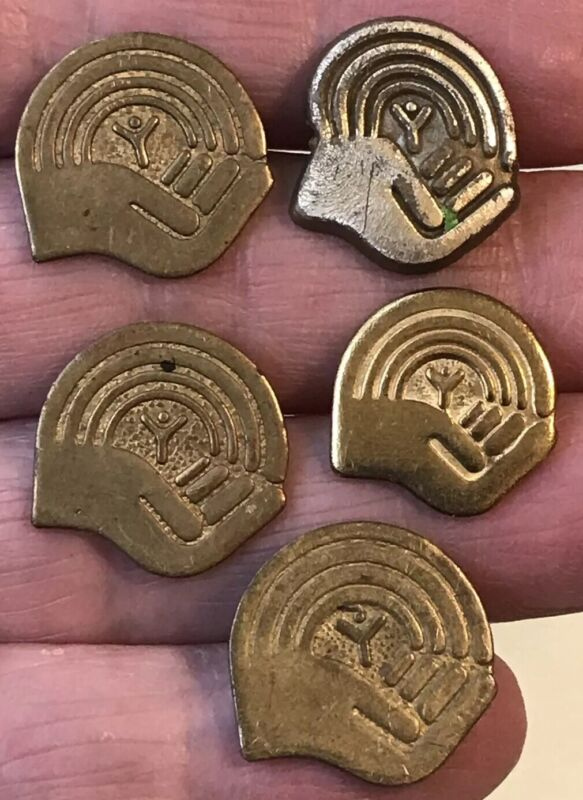 Vintage Lot of 5 YMCA Hand Pins