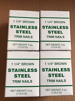 1.25 Stainless Steel Soffit Trim Nails Fascia Brown 1 Lb. 1 14 700 Nails
