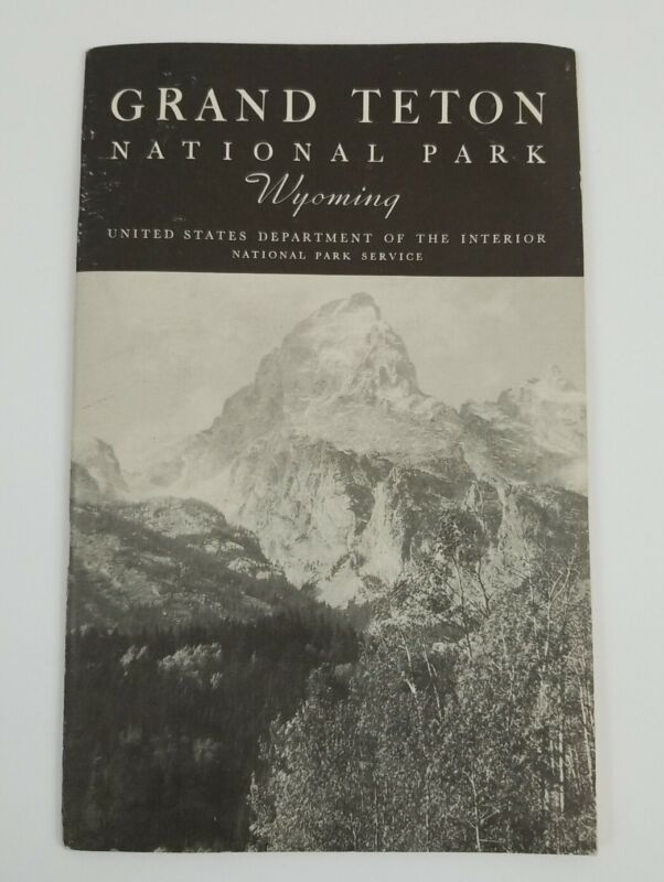 Vintage Travel Guide - 1937 Grand Teton National Park, Wyoming with Foldout Map