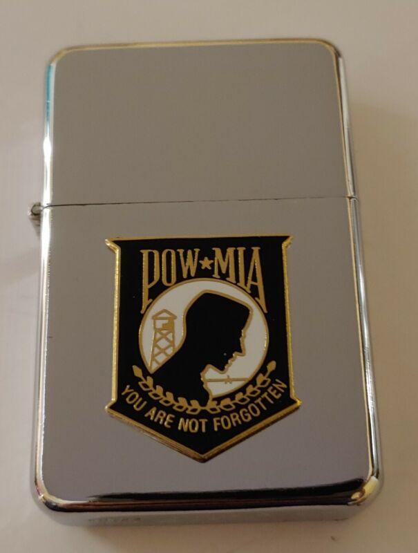 STAR-1 HIGH POLISH CHROME Lighter w/ POW*MIA Emblem 🆕 🎁🎖️