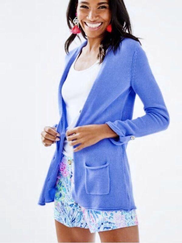 Lilly Pulitzer NWT Cornet Cardigan Blue Peri $118