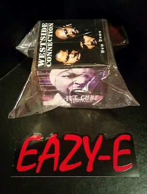 Ice Cube RARE PROMO Album Photo Puzzle Cube + Eazy-E Sticker* NWA Dr Dre Compton