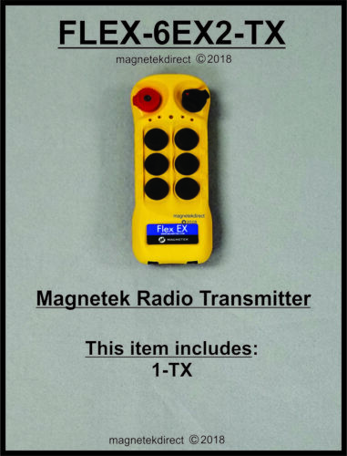 Magnetek Flex 6EX2 Radio Remote Control replacement spare Transmitter unit 6EX-T