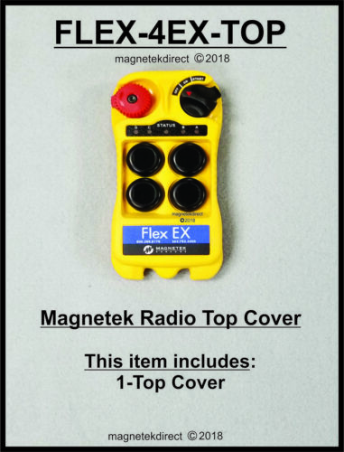 FLEX-4EX-TOP Front-Enclosure for Transmitter Magnetek remote control case