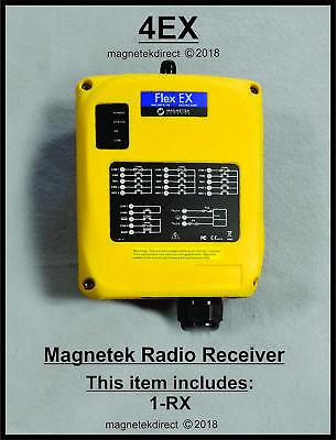 Magnetek Flex 4ex Receiver Unit For Overhead Crane Hoist Radio Remote Control