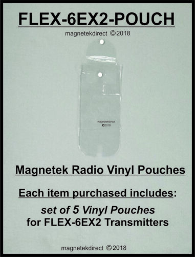 Magnetek FLEX-6EX2-POUCH clear vinyl pouch for radio remote control transmitter