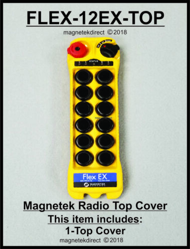 Magnetek FLEX 12EX TOP - front cover only, radio remote control transmitter part