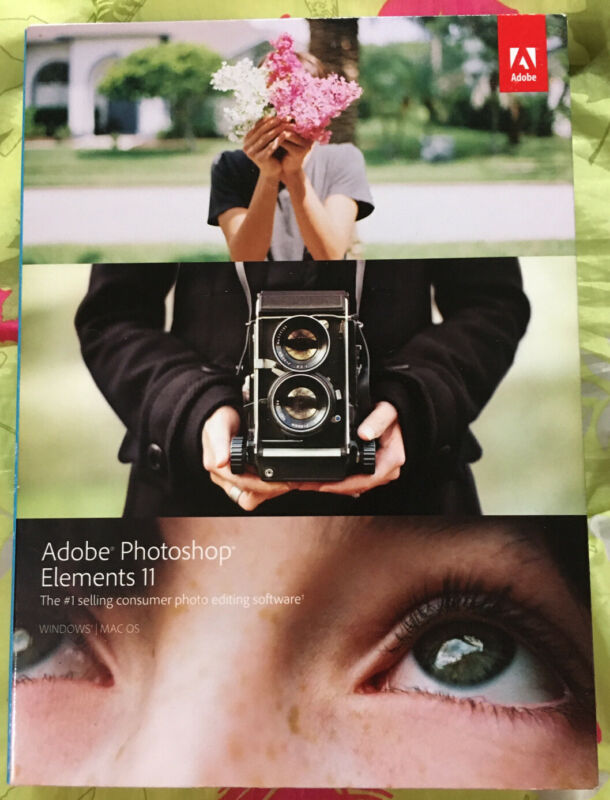 Adobe PHOTOSHOP ELEMENTS 11 (+Premiere Try) for PC or MAC Photo Editing Software