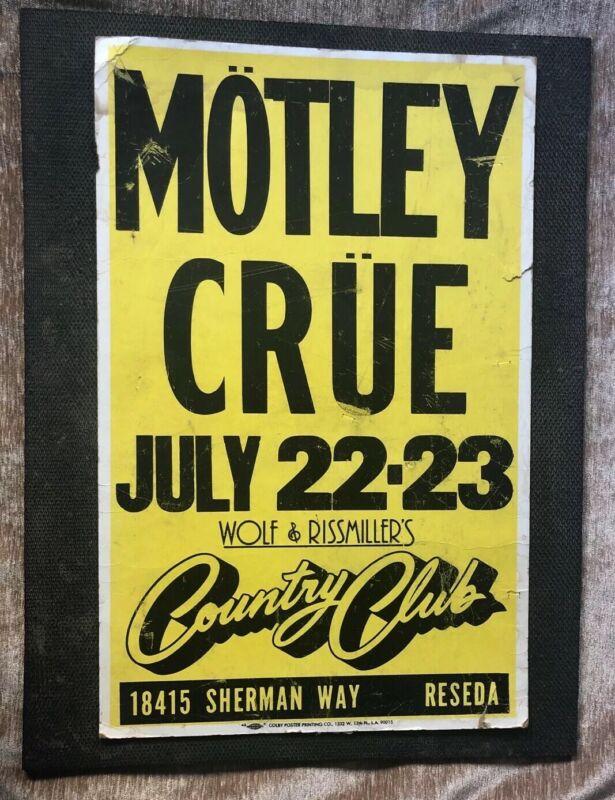 Motley Crue Original 1982 Concert Poster