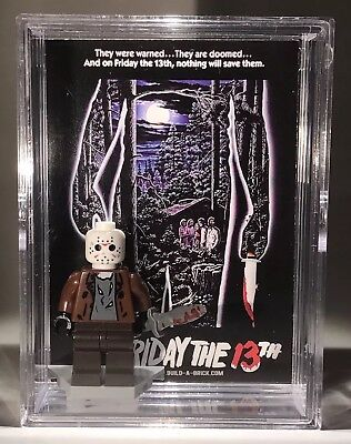 HORROR Jason Friday 13th Halloween Custom Mini Action Figure w Case & Stand 315b