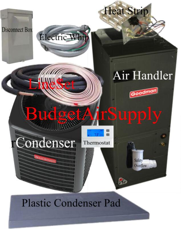 3 Ton 14 Seer Heat Pump 410a Goodman Gsz14036+aruf37c14+25ft Lineset Install Pkg