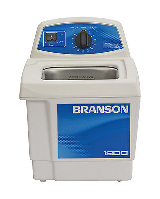 Ultrasonic Cleaner Branson M1800h 60 Min Mechanical Heat .5 Gal Cpx-952-117
