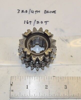 Suzuki RM 125 Transmission 3rd/4th Drive Gear 16T/20T 24231-43D02 92-94 for sale  Amery