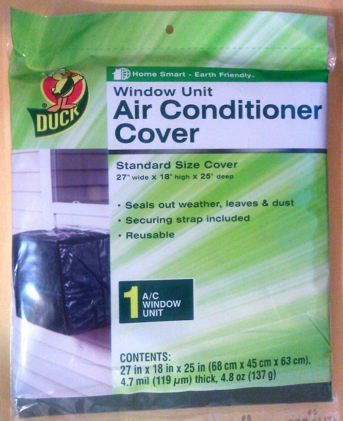 """Duck Window Air Conditioner Cover 27""""w X 18""""h X 25"""" d - NEW-"""