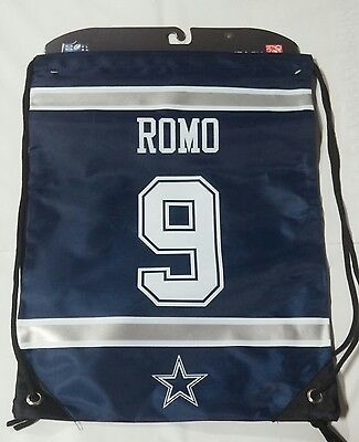 Tony Romo #9 Dallas Cowboys Jersey Back Pack/Sack Drawstring gym Bag for sale  Shipping to Canada