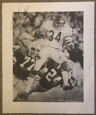 50ef14ac003 WALTER PAYTON - CHICAGO BEARS - Signed / Autographed Custom Print Lithograph