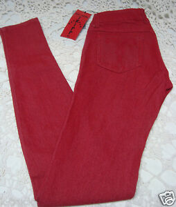 New-Tripp-Red-Pull-Up-Skinny-Jeans-Leggings-Size-0