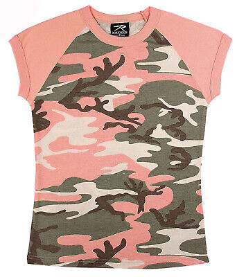 Pink Camouflage T-shirt (t-shirt camo subdued pink camouflage womens raglan slim fit tee rothco 8079 )