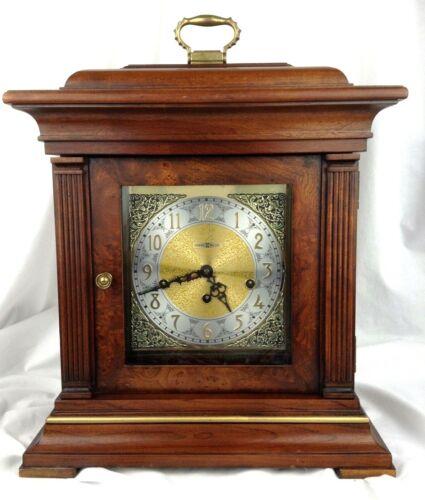 Vintage Howard Miller Chime Mantel clock Thomas Tompion shelf clock 3 chimes