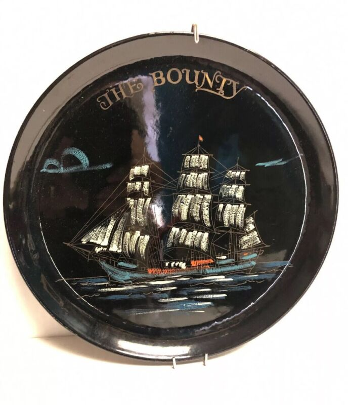 """Vintage """"Mutiny on the Bounty"""" Movie 10.75"""" MGM Branded Wall Art Plate RARE!!"""