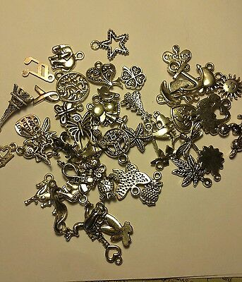 Tibetan Silver/Gold Charms No Rings For Bracelet US SELLER FAST SHIPPING - Gold Bracelet Charms