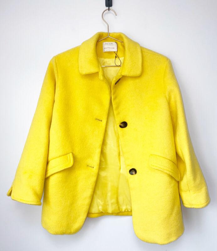 ZARA GIRLS YELLOW BUTTONED COAT SIZE 11-12 Long Coat