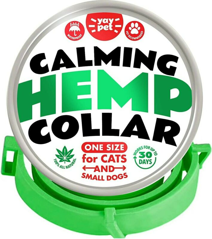 Calming Collar for Cats and Kittens with Hemp- Reduce Cat Anxiety, Stress toys