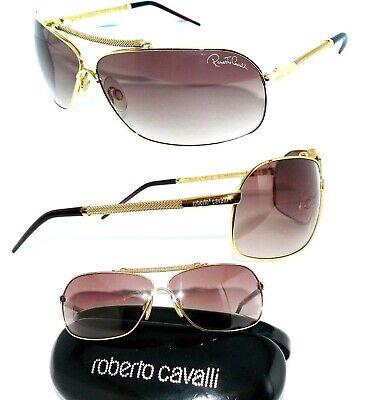 ROBERTO CAVALLI SONNENBRILLE GOLD BRAUN BEID RC850S KETTE DAMEN BAG BRILLE ETUI
