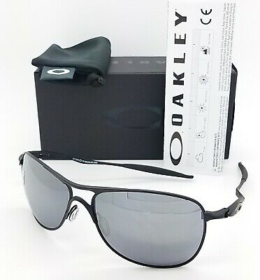 NEW Oakley Crosshair sunglasses 4060-03 Matte Black Black Iridium AUTHENTIC (Crosshair Oakley Sunglasses)