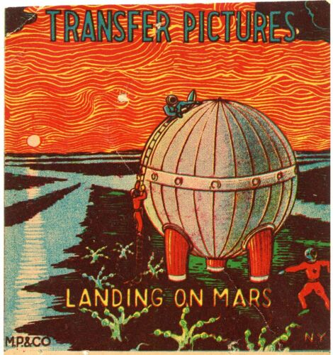 Transfer Pictures Landing on Mars Vintage 1950