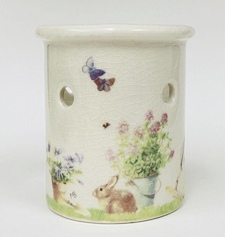 Marjolein Bastin Nature's Sketchbook Crackle Finish Bunny Votive Candle Holder