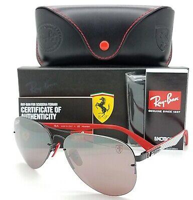 NEW Rayban Ferrari sunglasses RB3460M F009H2 Chromance Aviator Carbon  AUTHENTIC