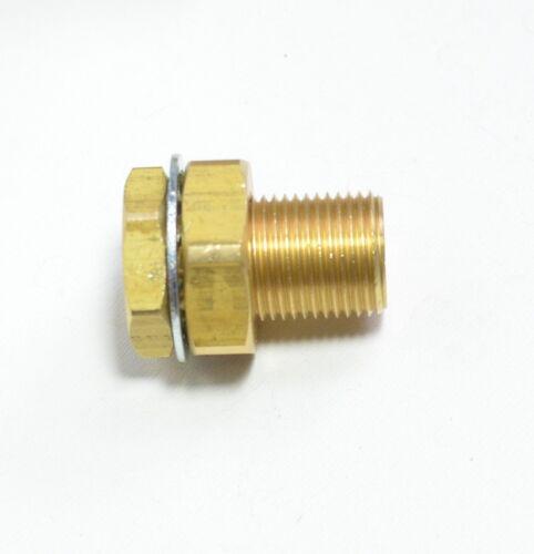 """1/4"""" NPT x 1.5"""" Bulkhead Fitting Terminal Bolt Brass Female Long Air Fasparts"""