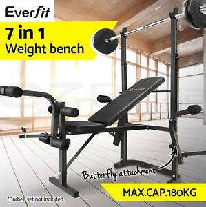 Multi-Station Weight Bench Press Fitness Weights Equipment Flat