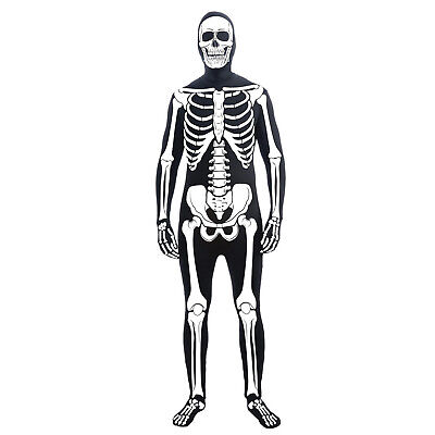 Skeleton Skin Suit (Forum Skeleton Skull Trooper Man Bone Skin Suit Adult Costume - Size)