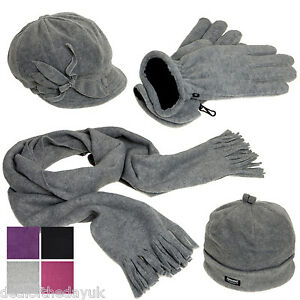Product Features images for this fleece hat, scarf, and glove set are accurate only when.