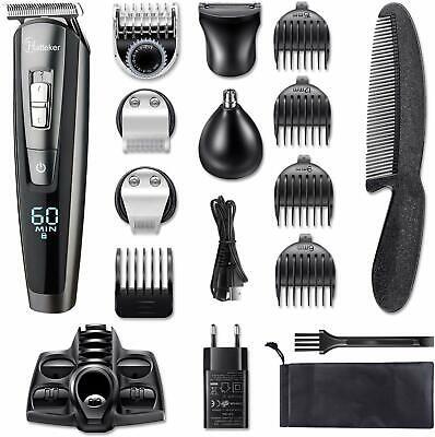 Hatteker Barbero Electrico Cortapelos Profesional Hombre Recargable Barba 5 en 1