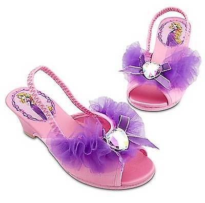 Disney Store Tangled Rapunzel Dressy Slippers Kid's Size 11/12 - Rapunzel Slippers