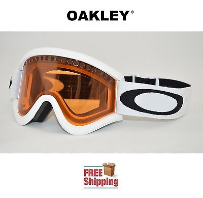 OAKLEY® E FRAME® SNOW GOGGLES DUAL LENS SNOWBOARD SKI MATTE WHITE PERSIMMON NEW