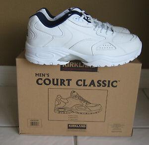 size 10 new court classic sneaker tennis shoe by kirkland