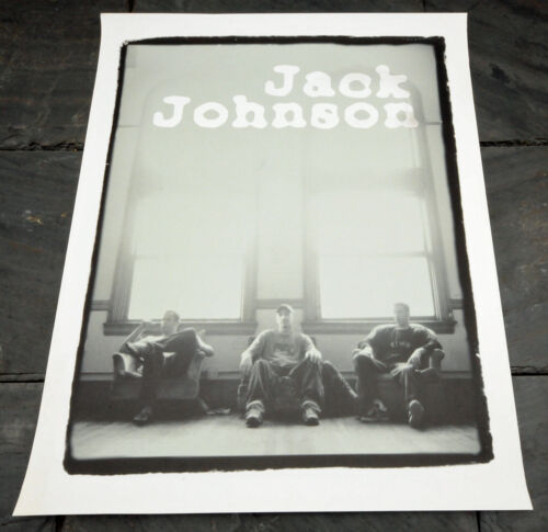 "Jack Johnson Limited Edition c. 2002 Heavy Stock Ltd 24"" x 30"" Poster"