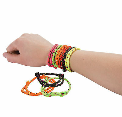 Neon Bracelets (72 NEON Friendship Rope Bracelets Girl's Birthday Princess party)