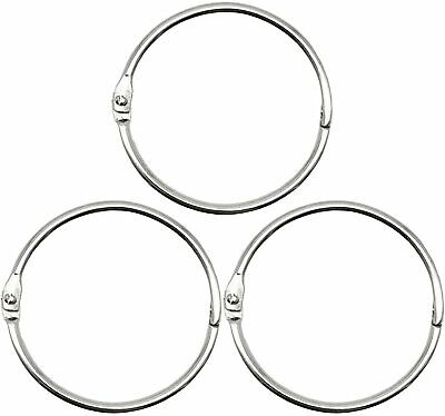 2 Inch 25 Pack Loose Leaf Binder Rings Nickel Plated Steel Binder Rings