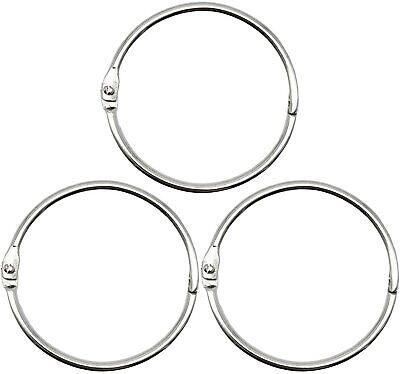 2 Inch 25 Pack Loose Leaf Binder Rings Nickel Plated Steel Binder Rings